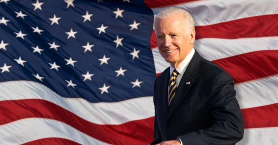 joe biden bandera de estados unidos