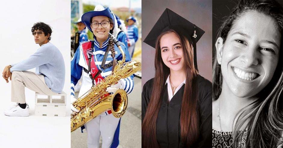 cuatro estudiantes destacados que recibieron beca de ULACIT