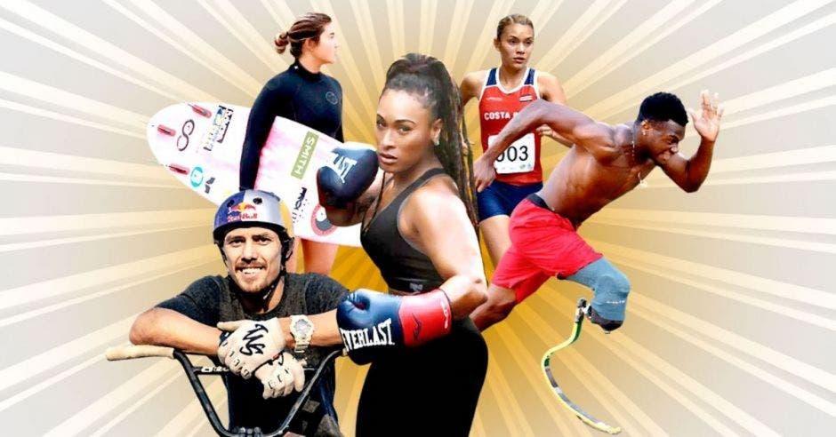 atletas Costa Rica destacados