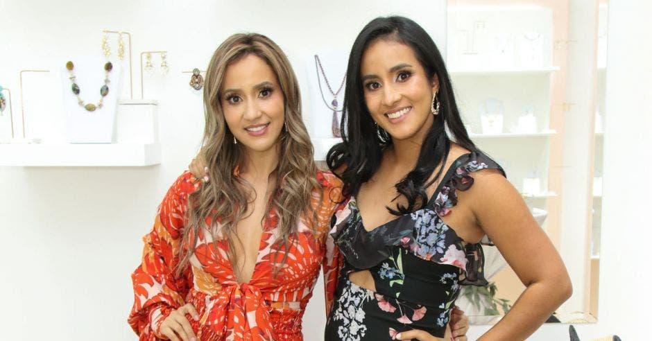 Las hermanas Johanna y Jancy López, socias de Toque Celestial