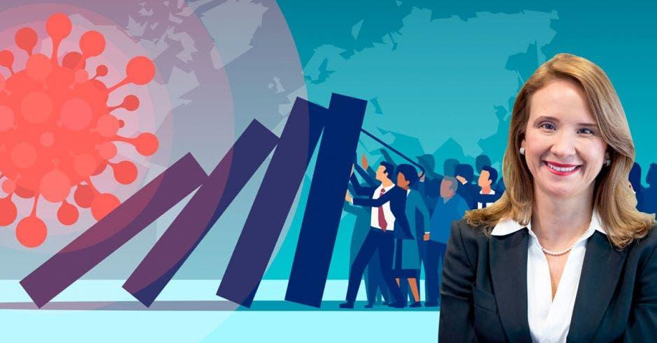 """""""Lo más importante es que la Caja debe estimular la formalización, ya que hoy día Costa Rica tiene un nivel muy alto cercano al 50%"""", dijo Gisela Sánchez, presidenta de AmCham. Archivo-Shutterstock/La República."""