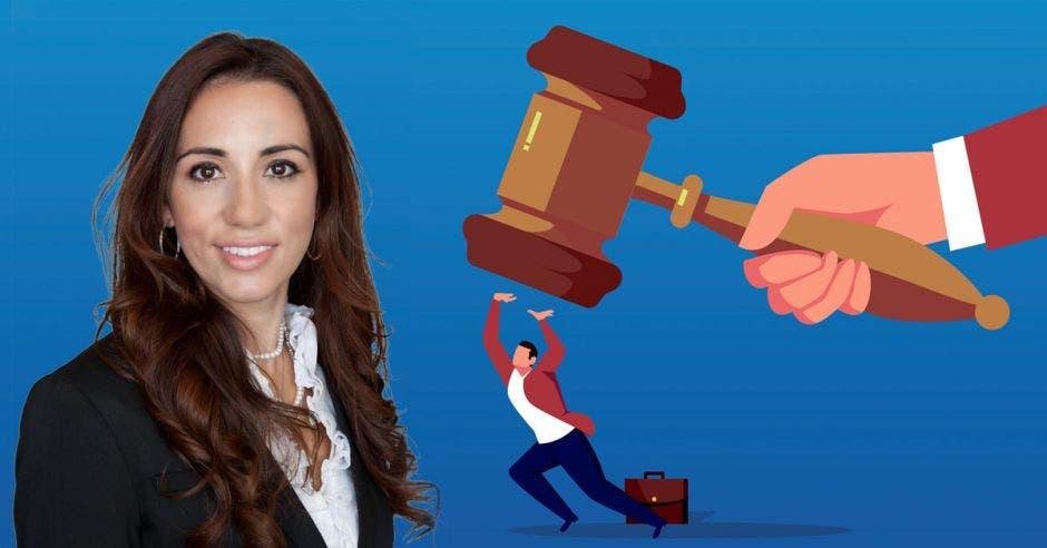 Karine Niño, diputada del PLN, impulsó la reforma a ley de contratación administrativa que establecería la inhabilitación hasta por diez años. Cortesía/La República.