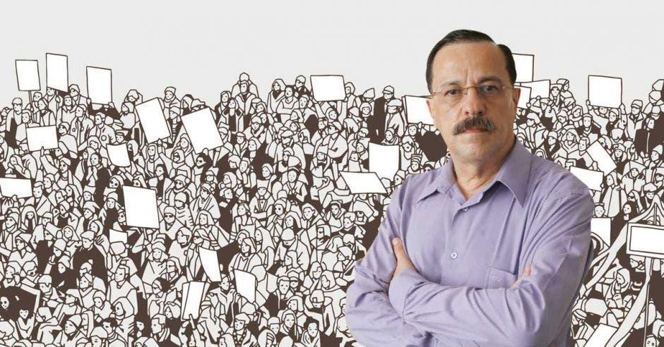 Alibino Vargas, secretario de la ANEP. Archivo/La República