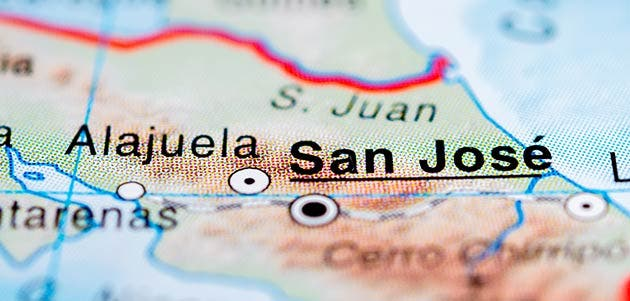 Mapa SJ - Alajuela. Shutterstock / La República