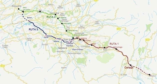 Ruta del tren diferenciada