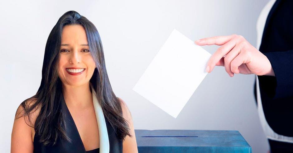 Natalia Díaz sería electa este sábado como candidata a la presidencia por el partido Unidos Podemos. Cortesía/La República.