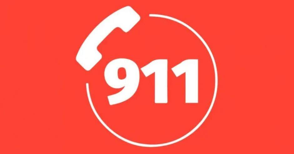 imagen indica el número del 911