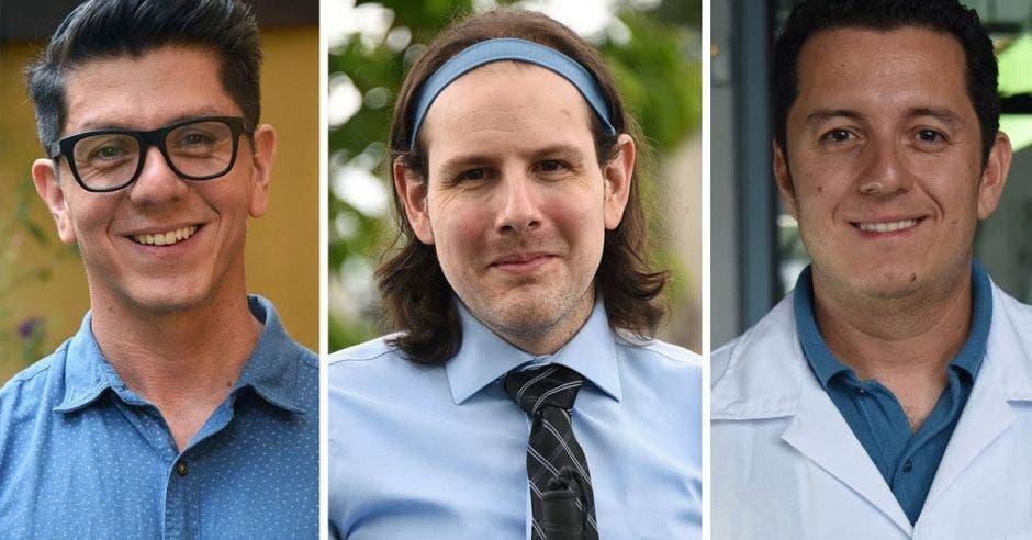 los tres científicos ticos que lideran la investigación