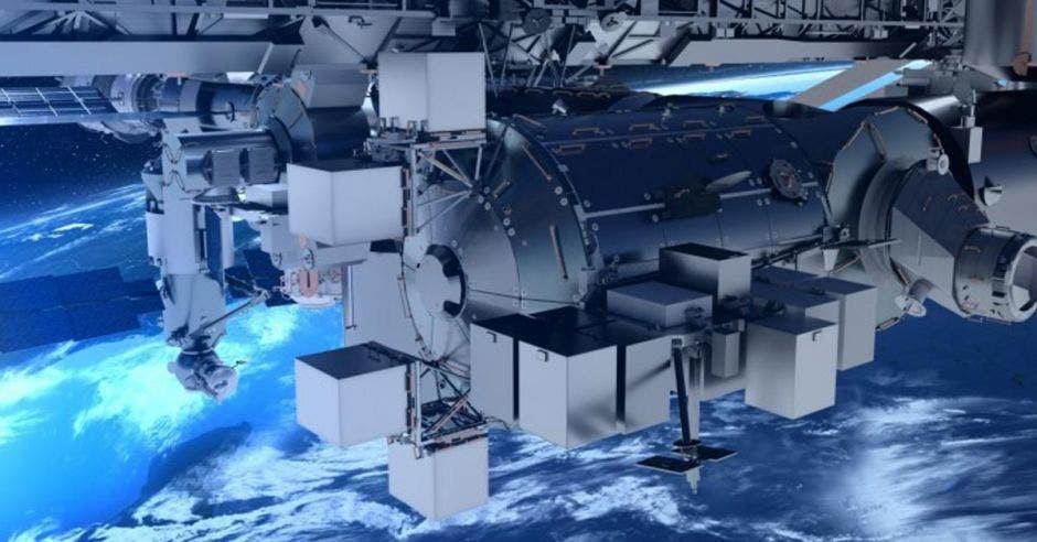 un satélite espacial