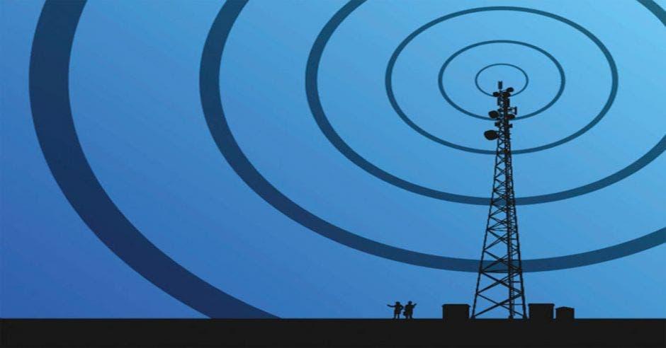 Antena de comunicaciones
