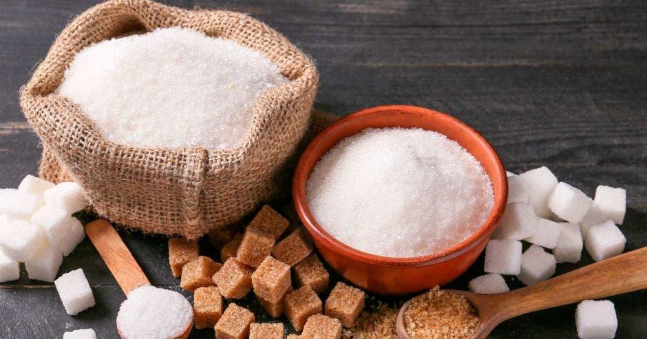 Azúcar en diferentes presentaciones