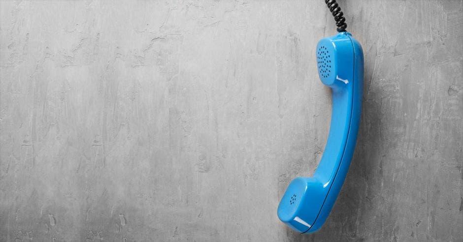 Teléfono fijo descolgado