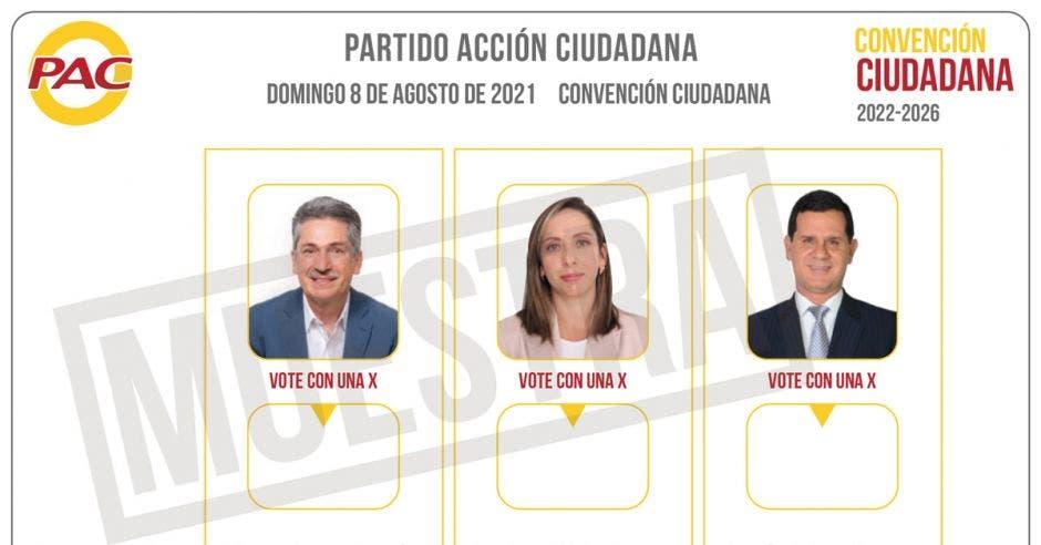 Welmer Ramos, Carolina Hidalgo y Hernán Solano son los precandidatos del PAC.