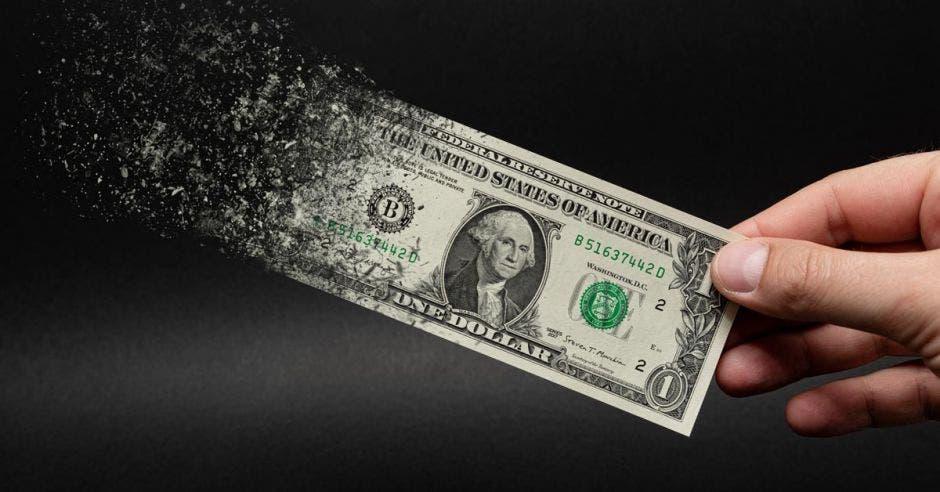Dólar desintegrándose