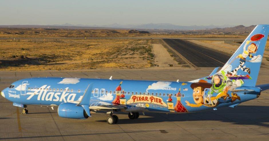 avión alusivo a Toy Story