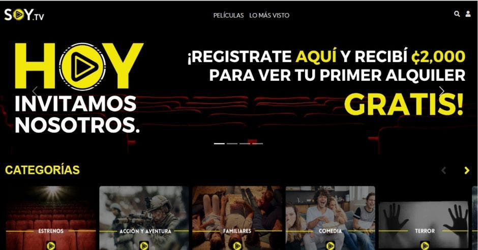 Sitio web de Soy TV