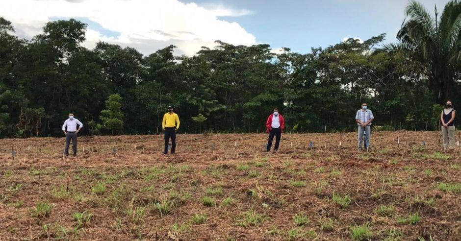 Personas en un terreno