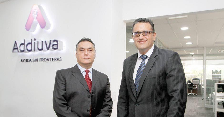 arlos Maya, presidente ejecutivo y José Arguedas, gerente general de Addiuva