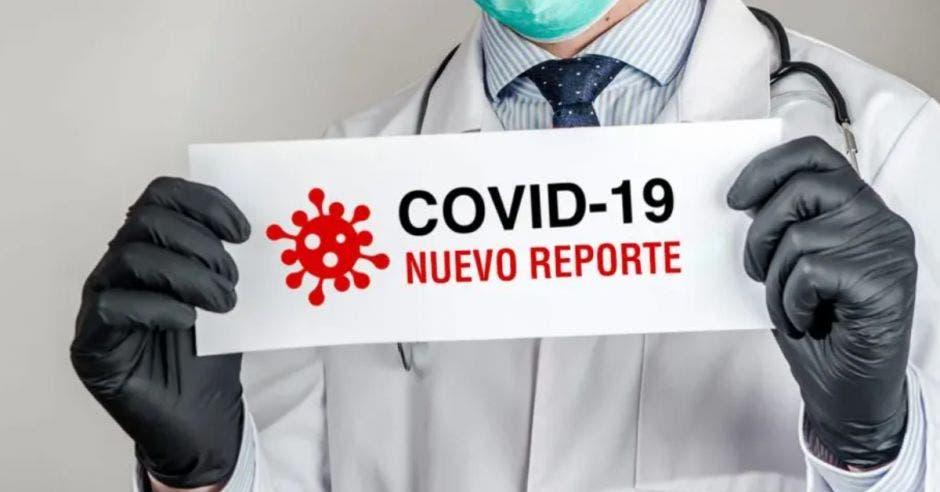 rótulo indicando que hay un nuevo reporte Covid-19