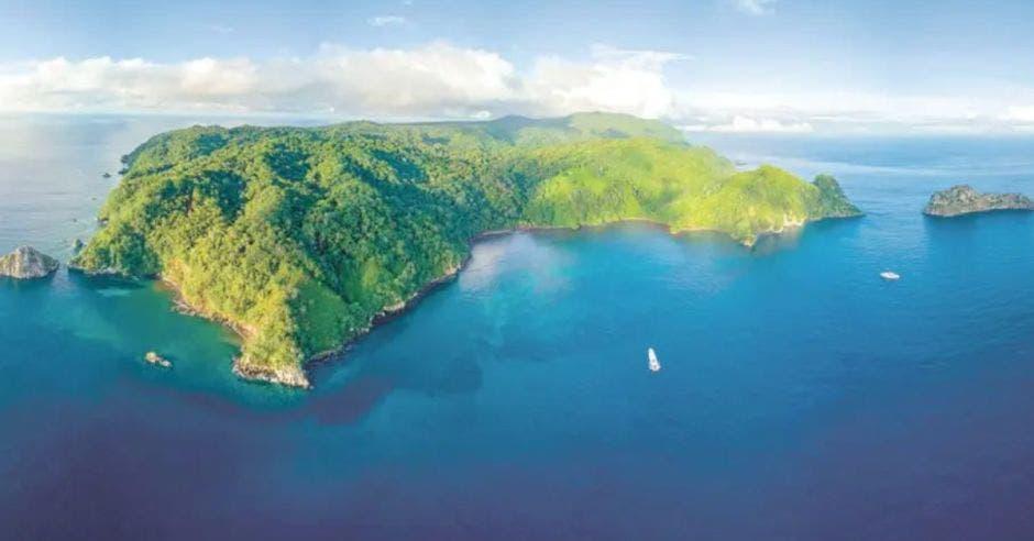 vista aérea de la Isla del Coco