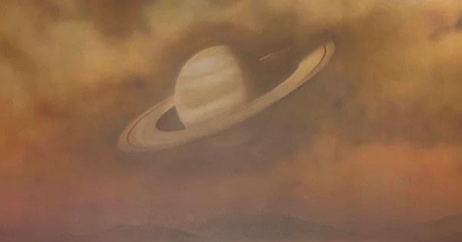 vista de Saturno desde Titán