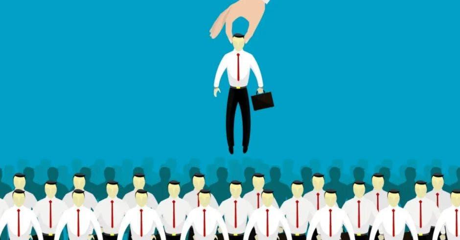 trabajador elegido entre cientos