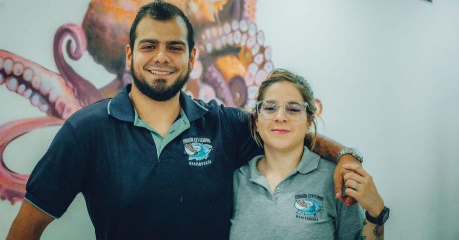 Carlos Soto y Fernanda Ramírez, socios del restaurante