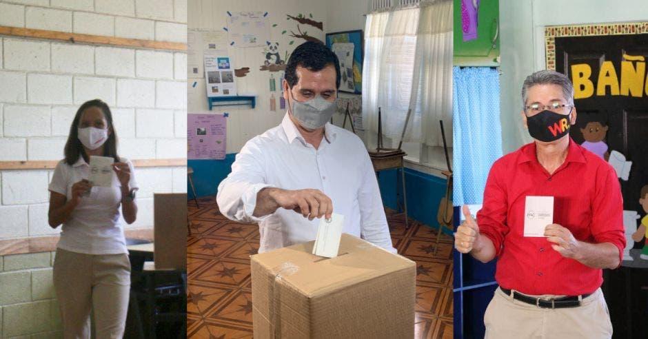 Carolina Hidalgo, Hernán Solano y Welmer Ramos son los precandidatos. Cortesía/La República