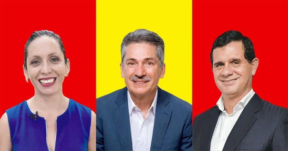 Carolina Hidalgo, Welmer Ramos y Hernán Solano, son los precandidatos del PAC. Archivo/La República.