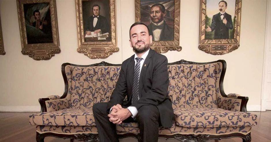 Jonathan Prendas, jefe de fracción de Nueva República. Archivo/La República.