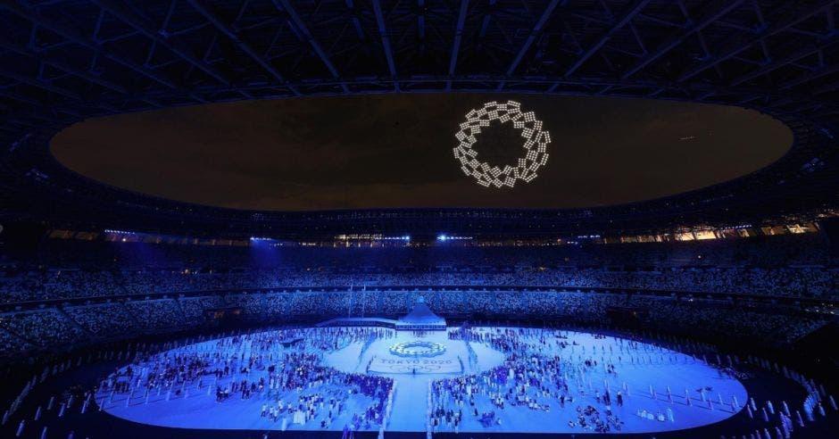 Show de drones en Juegos Olímpicos