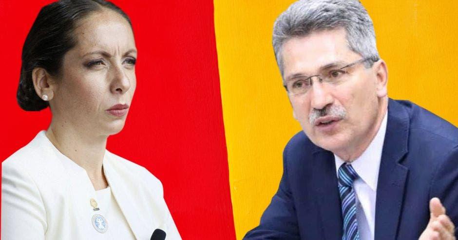 Carolina Hidalgo y Welmer Ramos se disputan la candidatura en el PAC. Los aspirantes tienen visiones muy diferentes. Archivo/La República