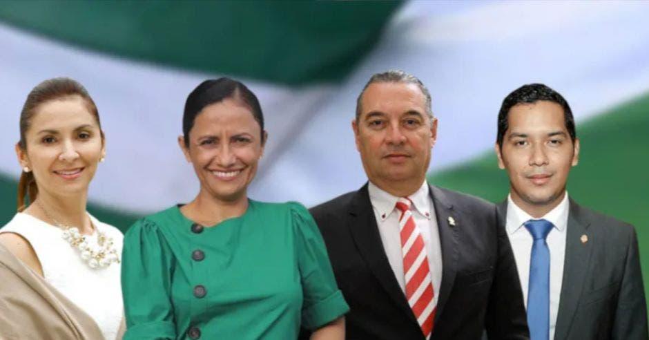 Silvia Hernández, Yorleny León, Roberto Thompson y Gustavo Viales, son algunos de los diputados del PLN. Archivo/La República.