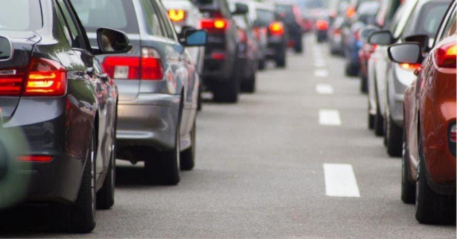 autos detenidos por congestionamiento vial