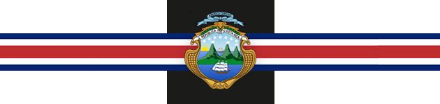 Bandera y escudo de Costa Rica