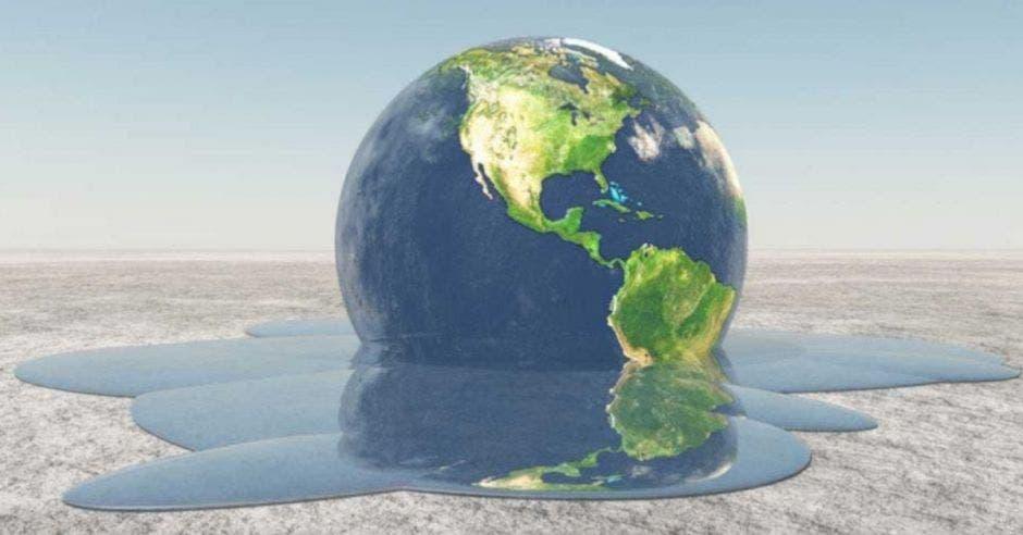 planeta Tierra derritiéndose