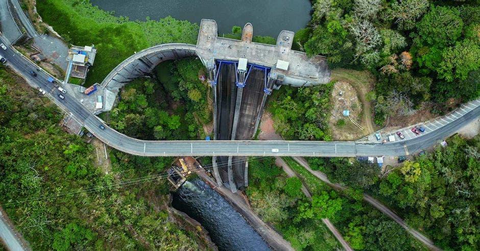 Una planta hidroeléctrica