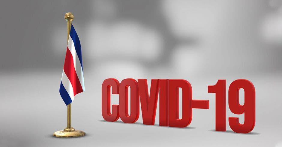 bandera de Costa Rica y Covid-19