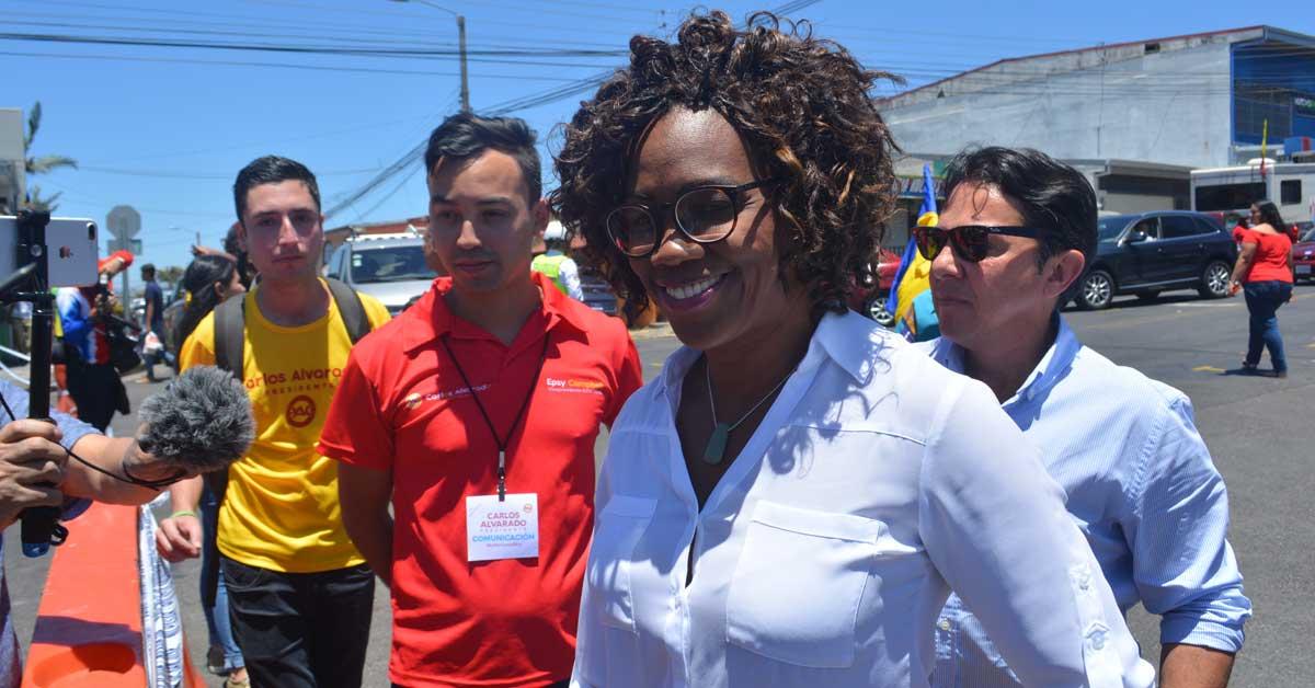 Epsy Campbell, candidata a la vicepresidencia de la República. Esteban Monge/La República.